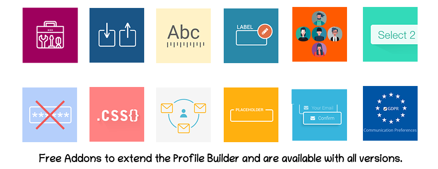 Profile builder Free Add-ons