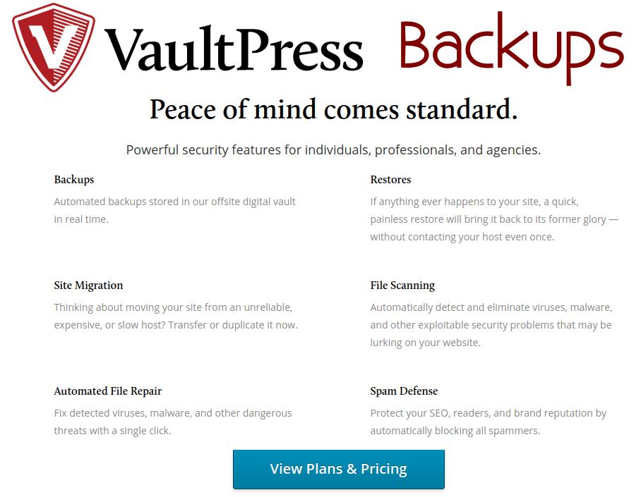 VaultPress - WordPress Backup and Security