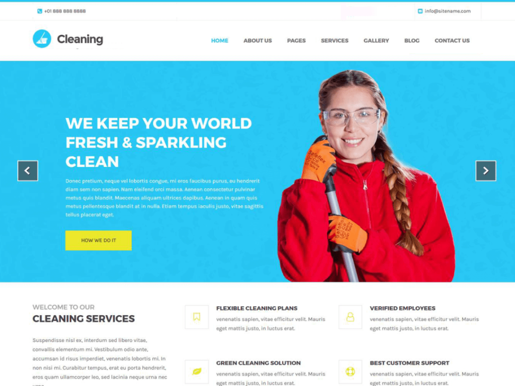 Cleaning Lite free theme for WordPress