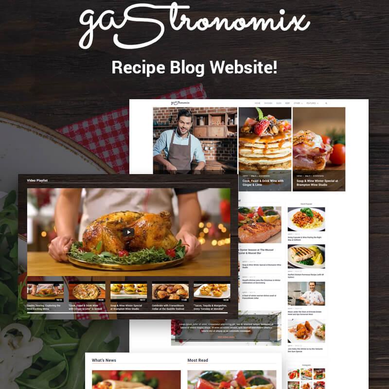 Gastronomix - Restaurant  Elementor WordPress Theme