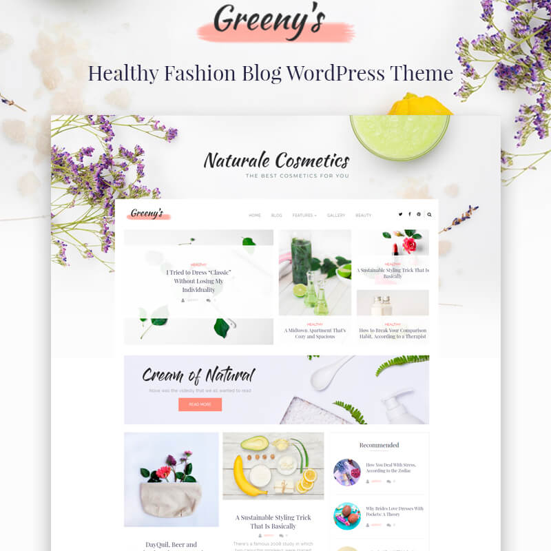 Greeny's - Healthy Fashion Elementor WordPress Theme