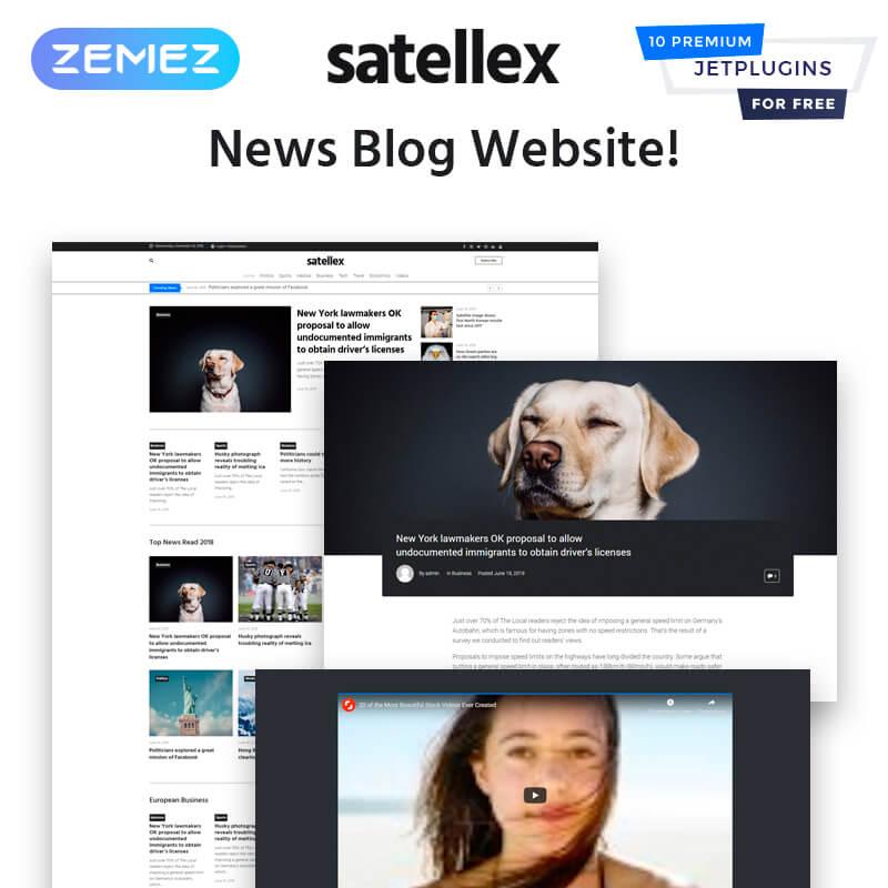 Satellex - News Blog Multipurpose Classic WordPress Theme