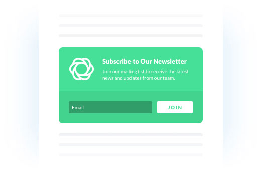 bool WordPress email Inline Opt-In Form