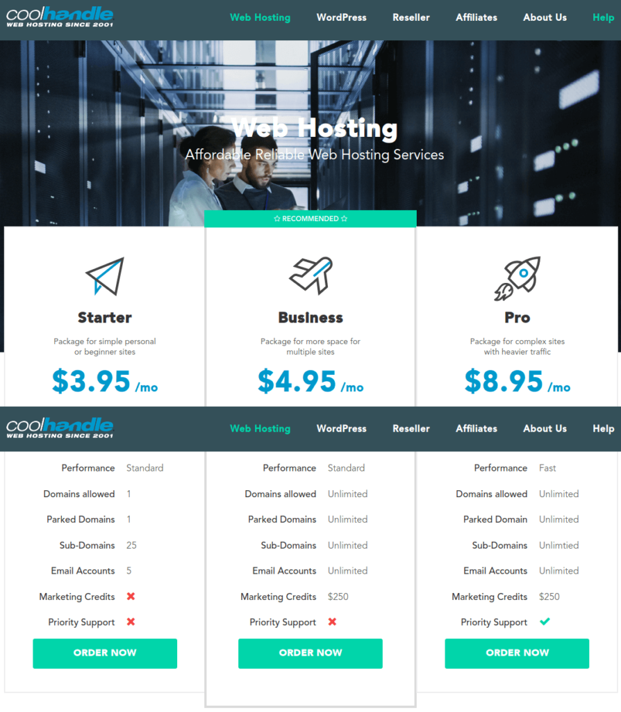 CoolHandle Cheap Shared WordPress and Reseller Hosting